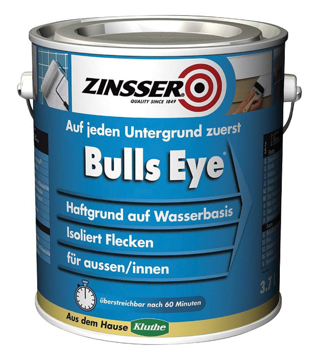 zinsser bulls eye haftgrund f r innen und aussen www. Black Bedroom Furniture Sets. Home Design Ideas
